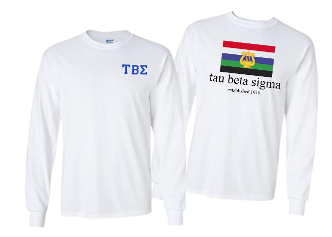 Tau Beta Sigma Long Sleeve Flag Tee