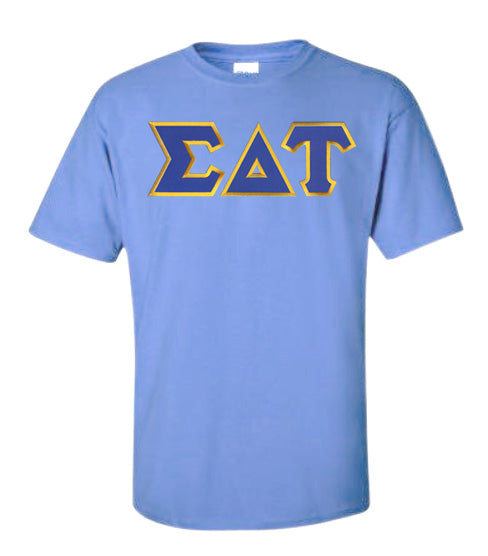 Sigma Delta Tau Lettered T Shirt