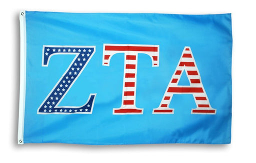 Zeta Tau Alpha Patriotic Flag