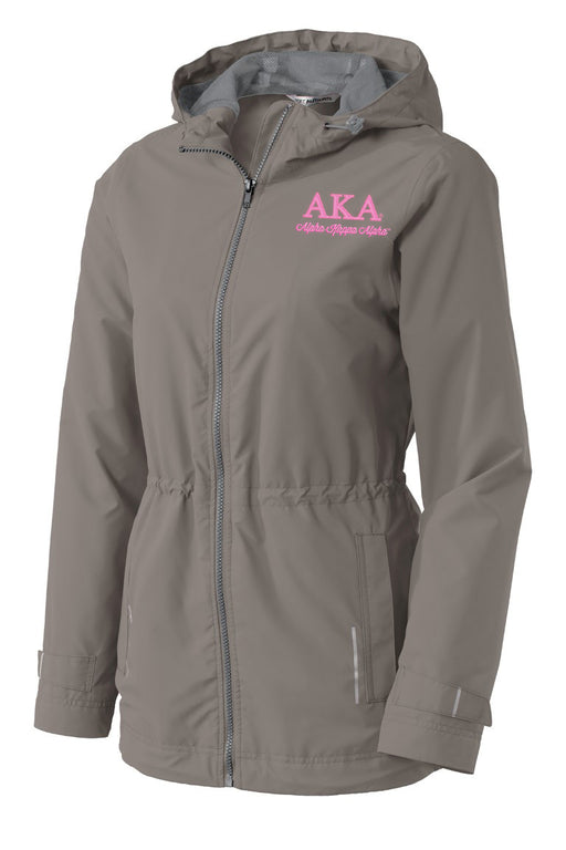 Alpha Kappa Alpha Embroidered Ladies Northwest Slicker