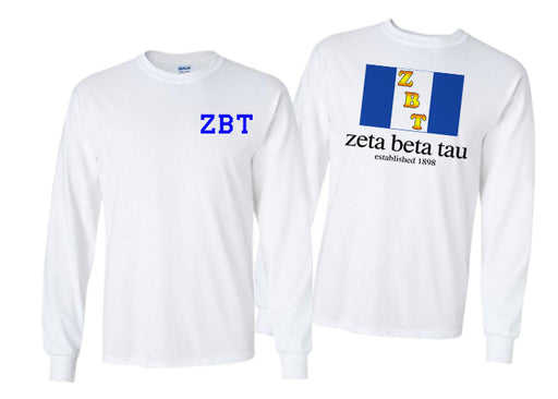 Zeta Beta Tau Long Sleeve Flag Tee