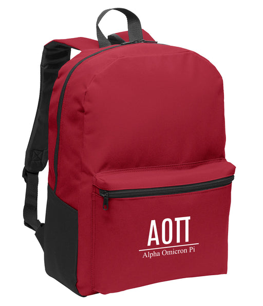 Alpha Omicron Pi Collegiate Embroidered Backpack