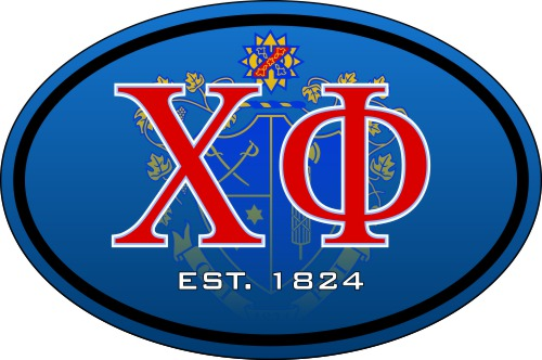 Chi Phi Color Oval Decal