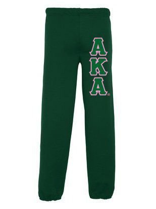Alpha Kappa Alpha Sweatpants with Sewn-On Letters