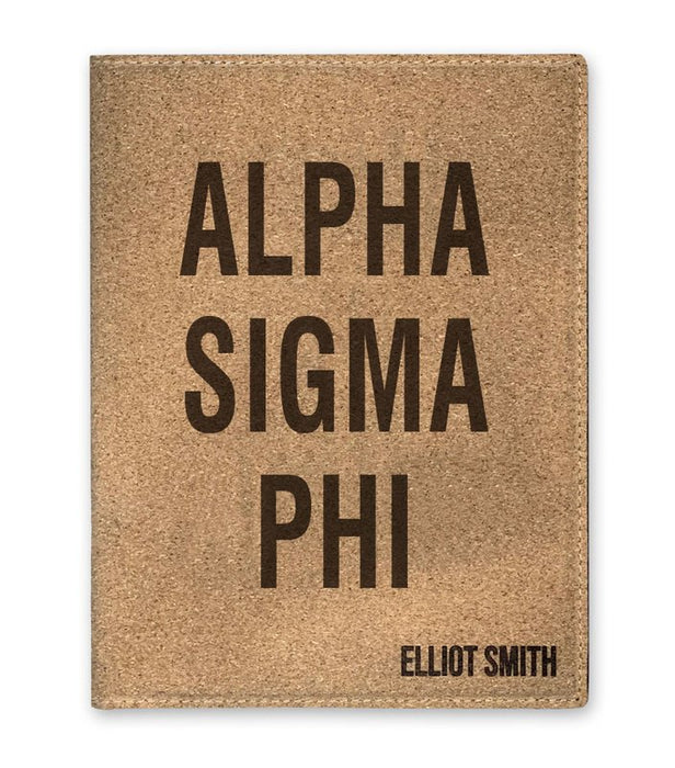 Alpha Sigma Phi Cork Portfolio with Notepad