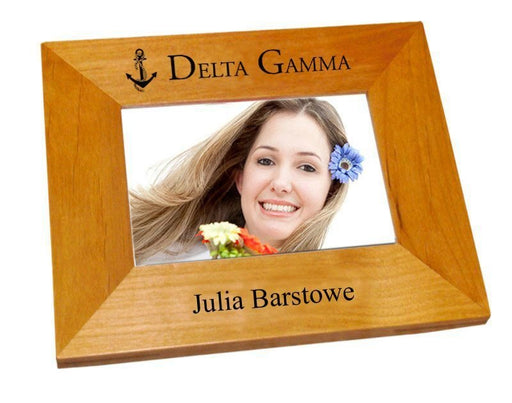 Delta Gamma Wood Picture Frame