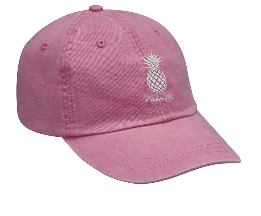 Alpha Phi Pineapple Embroidered Hat