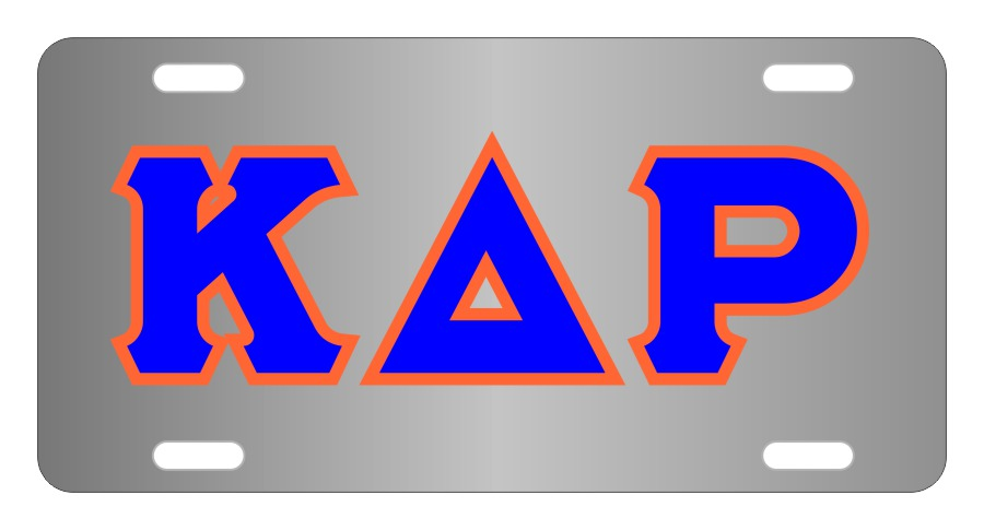 Kappa Delta Rho Fraternity License Plate Cover