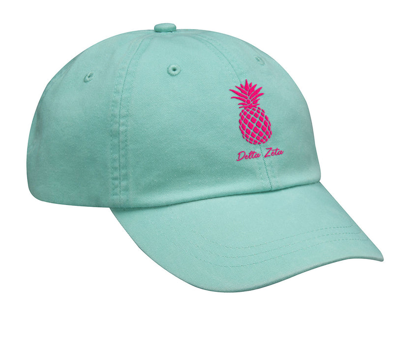Delta Zeta Pineapple Embroidered Hat