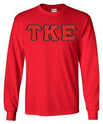 Tau Kappa Epsilon Long Sleeve Greek Lettered Tee