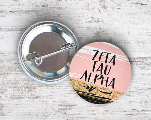 Zeta Tau Alpha Rose Gold Button