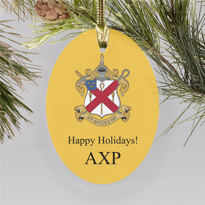 Alpha Chi Rho Color Crest Ornament