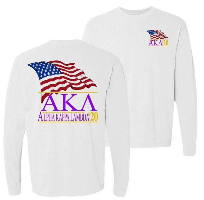 Alpha Kappa Lambda Patriot Flag Comfort Colors Long Tee