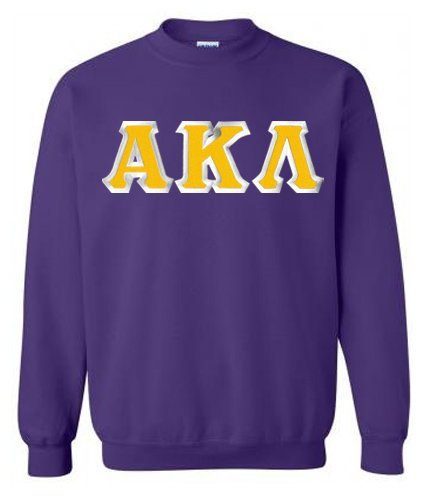 Alpha Kappa Lambda Crewneck Sweatshirt with Sewn-On Letters