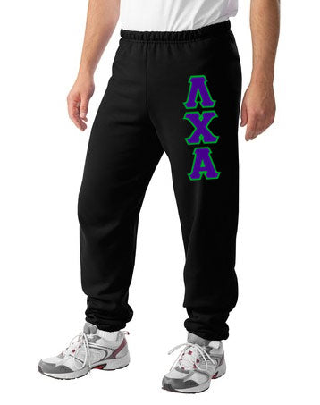 Lambda Chi Alpha Sweatpants with Sewn-On Letters