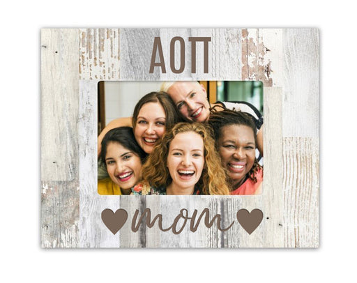 Alpha Omicron Pi Hearts Wood Picture Frame