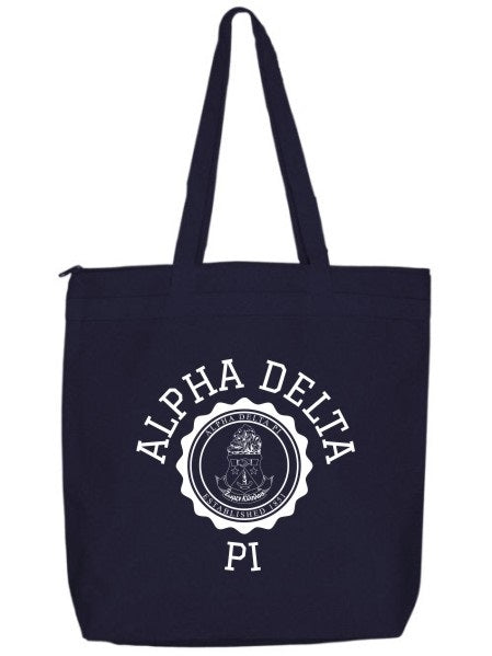 Alpha Delta Pi Crest Seal Tote Bag