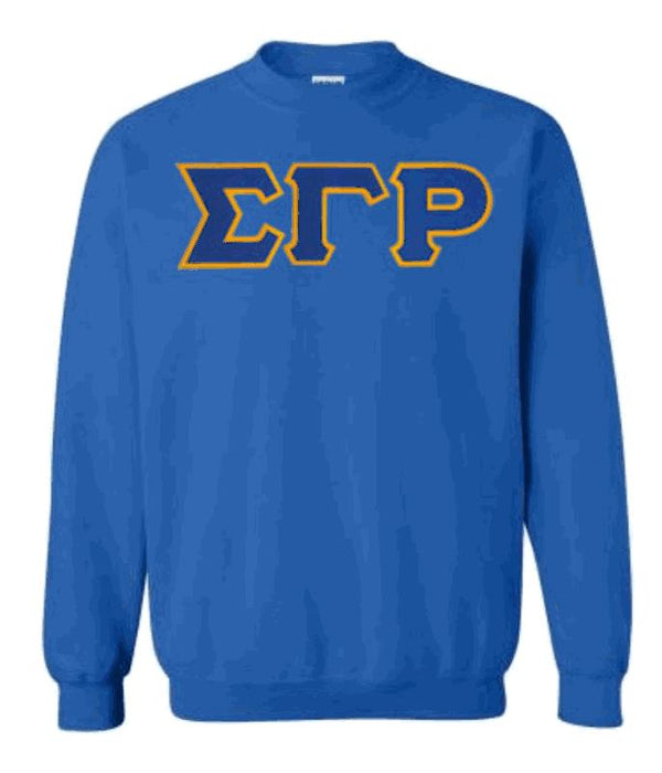 Sigma Gamma Rho Classic Colors Sewn-On Letter Crewneck
