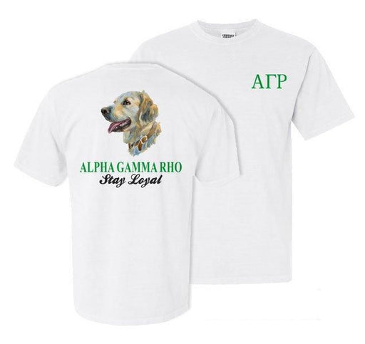 Alpha Gamma Rho Dog Head Comfort Colors Heavy Tee