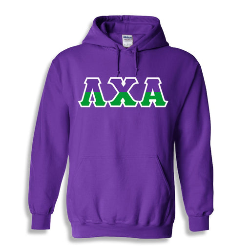 Lambda Chi Alpha Two Toned Lettered Hooded Sweatshirt