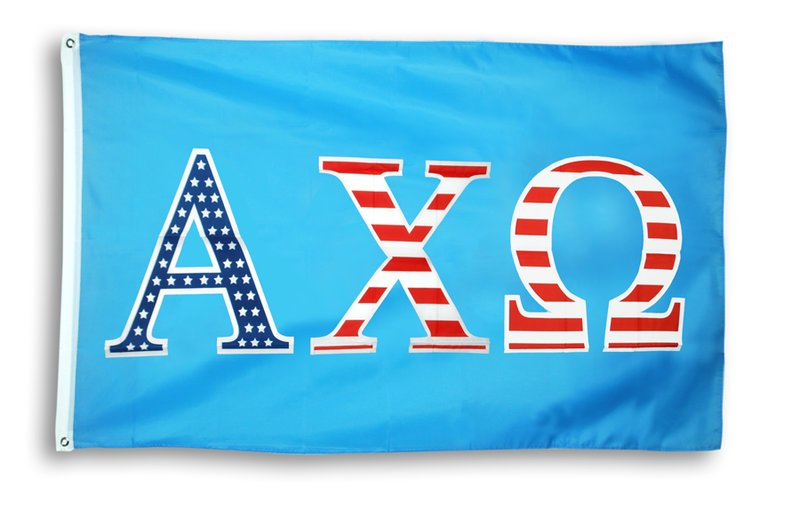 Alpha Chi Omega Patriotic Flag