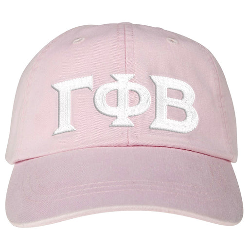 Gamma Phi Beta Greek Letter Embroidered Hat