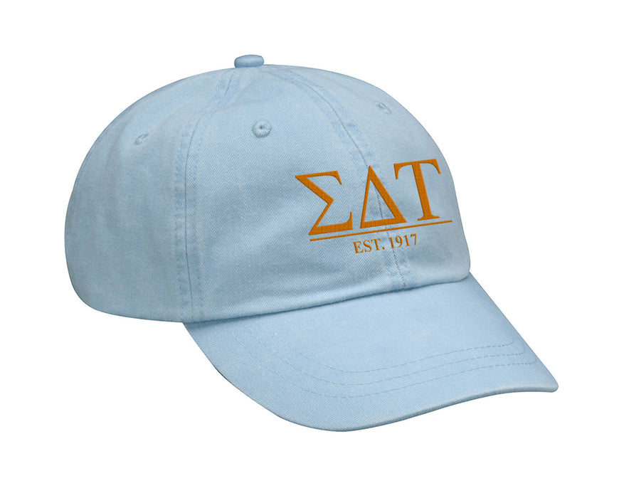 Sigma Delta Tau Letters Year Embroidered Hat