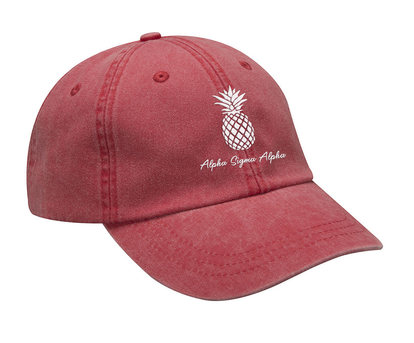 Alpha Sigma Alpha Pineapple Embroidered Hat