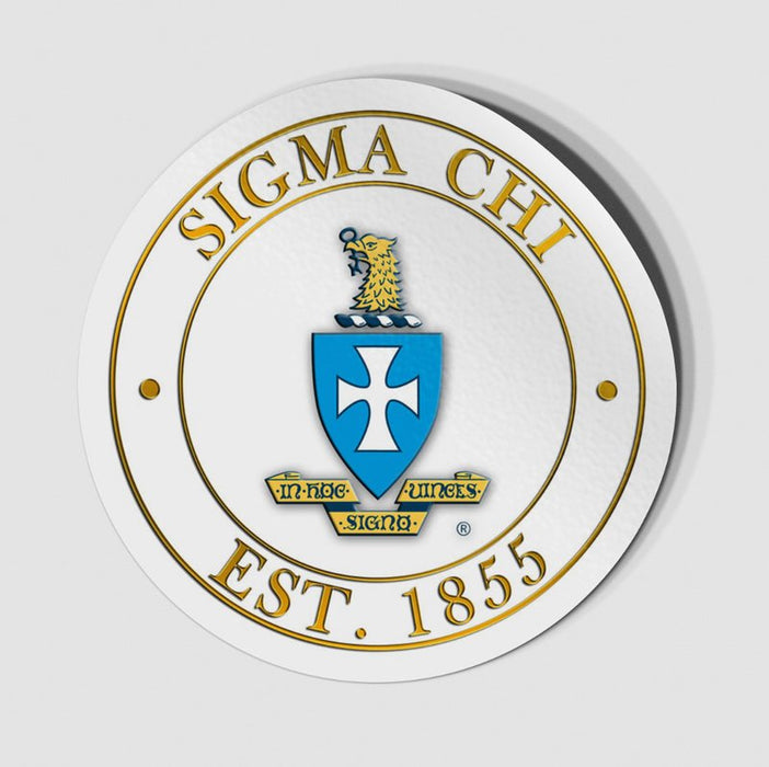Sigma Chi Circle Crest Decal