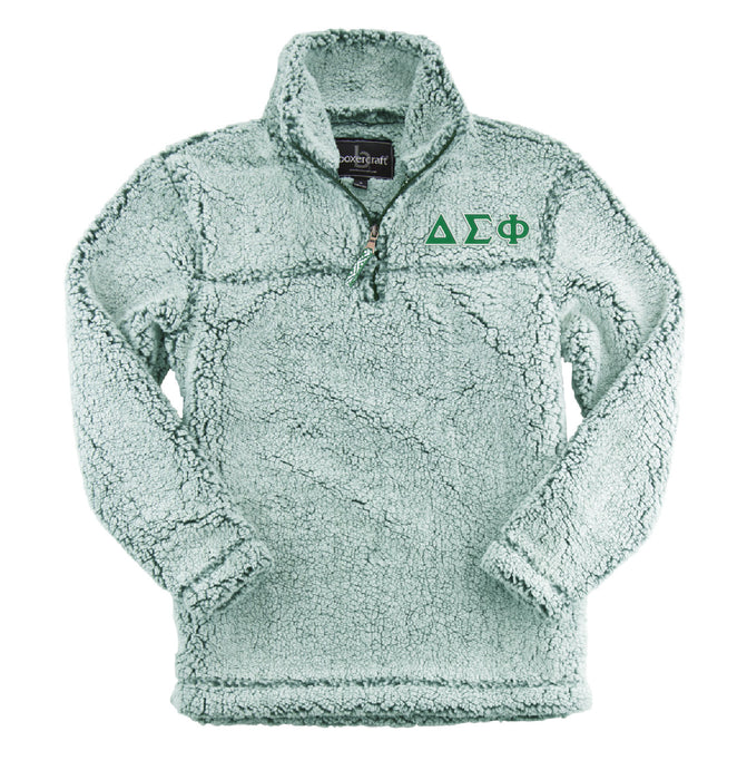 Delta Sigma Phi Embroidered Sherpa Quarter Zip Pullover