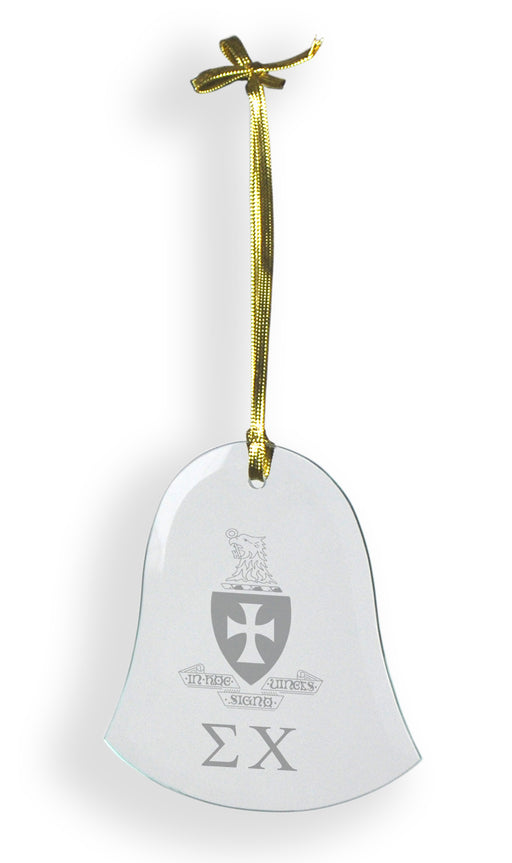 Sigma Chi Glass Bell Ornament