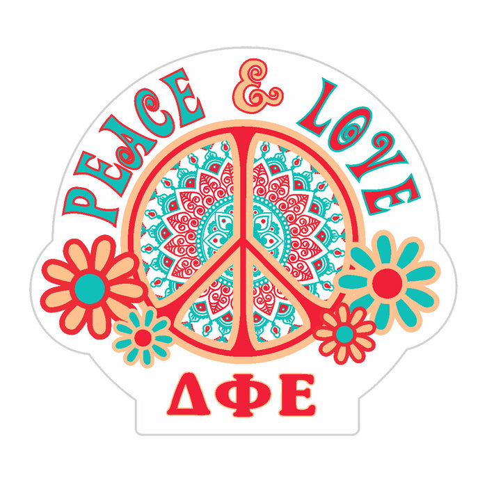 Delta Phi Epsilon Peace Sticker