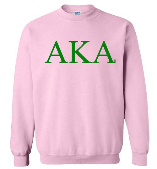 Alpha Kappa Alpha World Famous Lettered Crewneck Sweatshirt