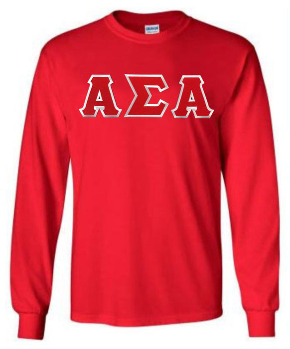 Alpha Sigma Alpha Long Sleeve Greek Lettered Tee
