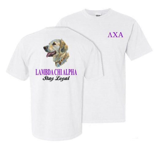 Lambda Chi Alpha Dog Head Comfort Colors Heavy Tee