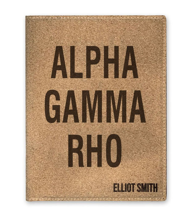 Alpha Gamma Rho Cork Portfolio with Notepad