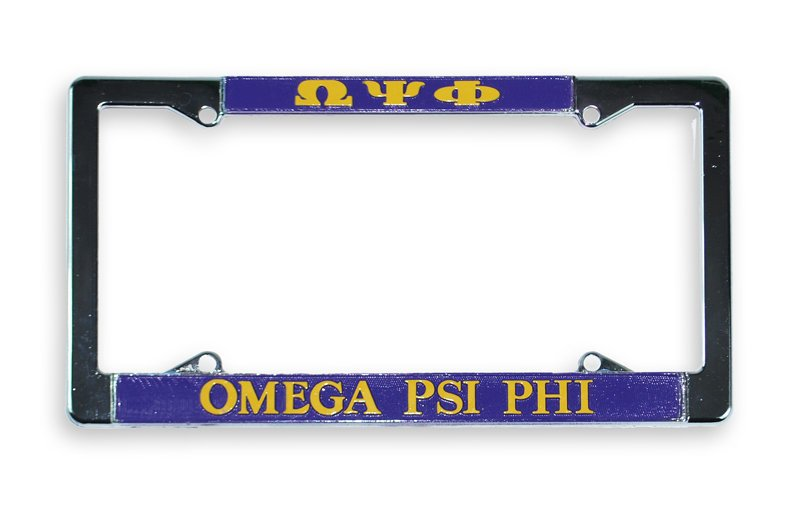 Omega Psi Phi License Plate Frame