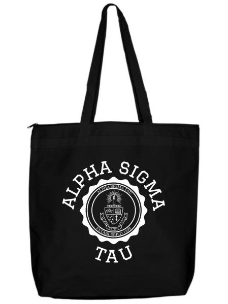 Alpha Sigma Tau Crest Seal Tote Bag