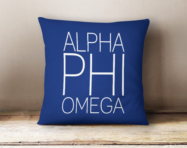 Alpha Phi Omega Simple Text Throw Pillow