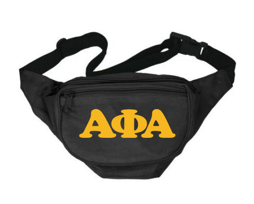 Alpha Phi Alpha Fanny Pack Letters Layered Fanny Pack