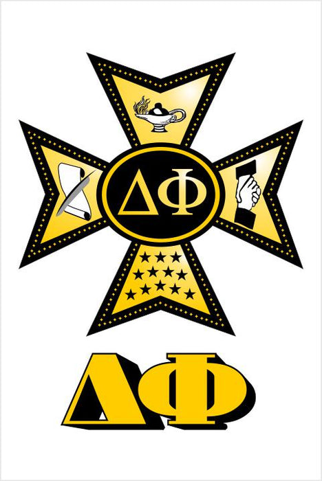 Delta Phi Crest Window Decals Stickers Crest Decal