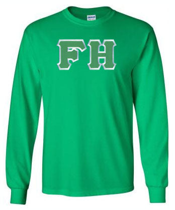 Farmhouse Long Sleeve Greek Lettered Tee