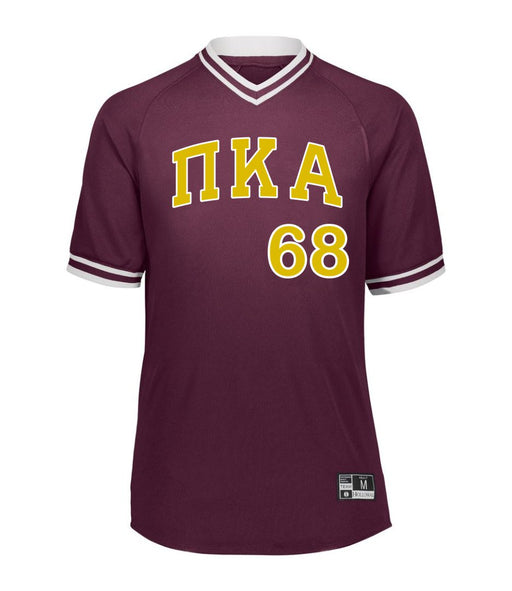 Pi Kappa Alpha Retro V-Neck Baseball Jersey