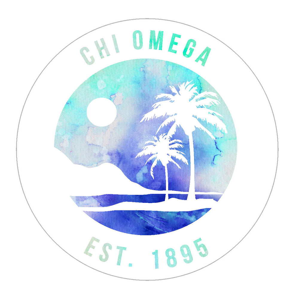 Chi Omega Oasis Sticker