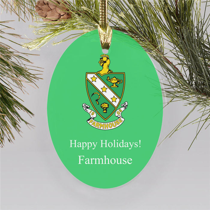 Farmhouse Color Crest Ornament