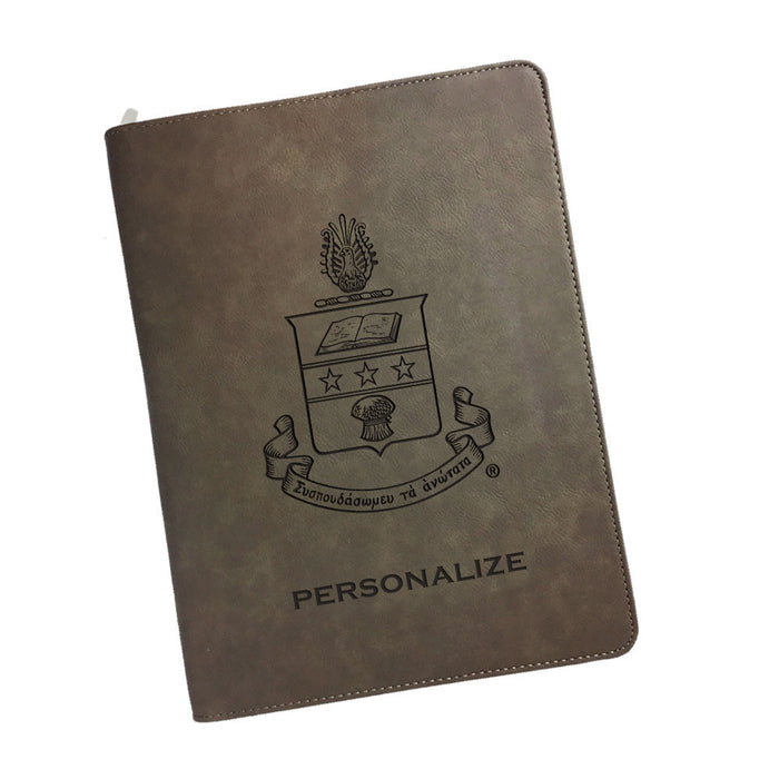Alpha Chi Omega Leatherette Portfolio with Notepad