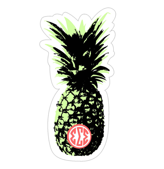 Sigma Sigma Sigma Pineapple Sticker