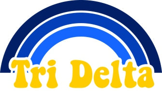 Delta Delta Delta End of The Rainbow Sorority Decal