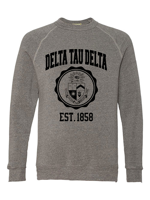 Delta Tau Delta Alternative Eco Fleece Champ Crewneck Sweatshirt