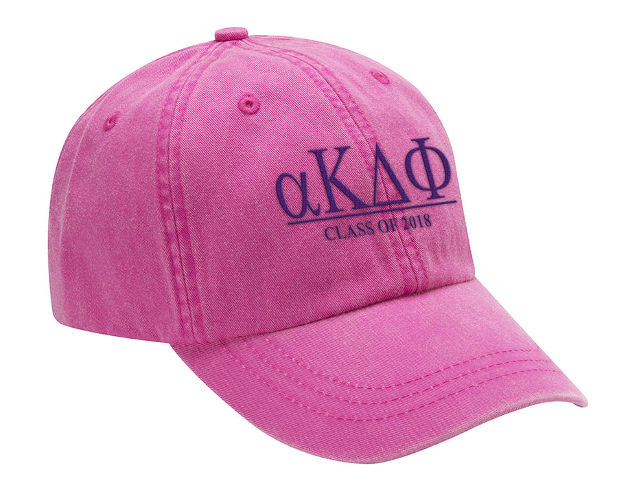 Alpha Kappa Delta Phi Embroidered Hat with Custom Text